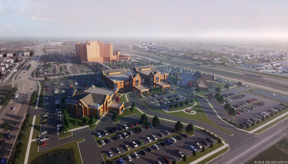 Rendering of what the future Sanford Medical Center Fargo campus will look like with future growth.